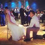 Javie removes Kailyn's garter at their wedding