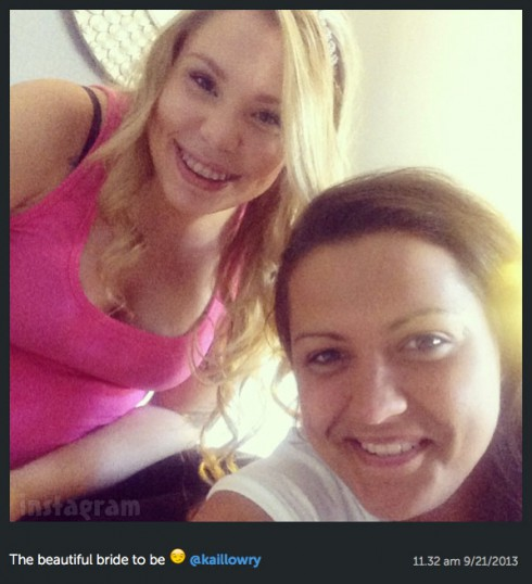 Kailyn Lowry wedding day photo September 21 2013