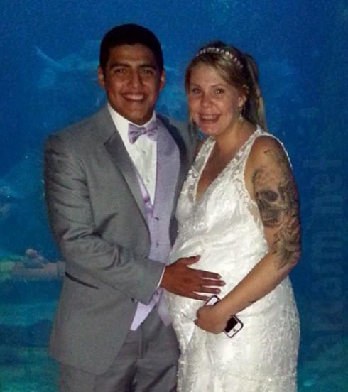 Javi Marroquin Kailyn Lowry wedding photo