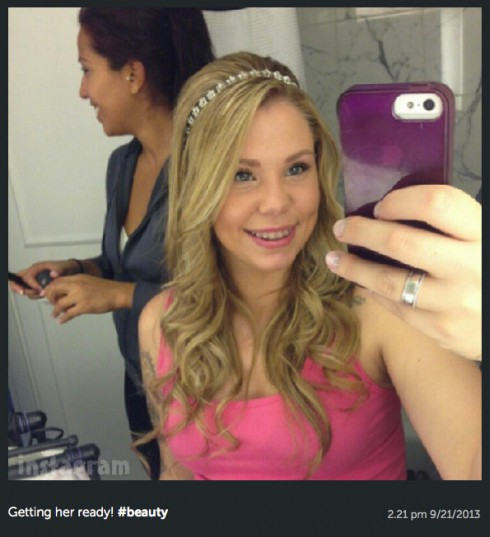 Kailyn Lowry's hair on her wedding day