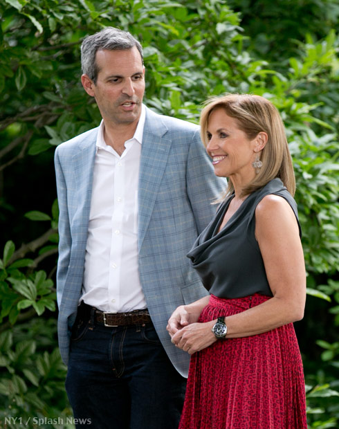 Katie Couric and fiance John Molner