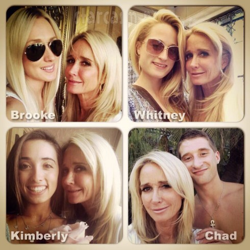 Kim Richards children are daughters Brooke Brinson, Whitney Davis, and Kimberly Jackson, and her son is Chad Davis