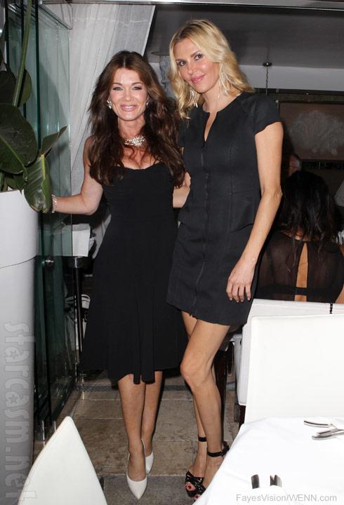Lisa Vanderpump with Brandi Glanville at Villa Blanca in September 2013
