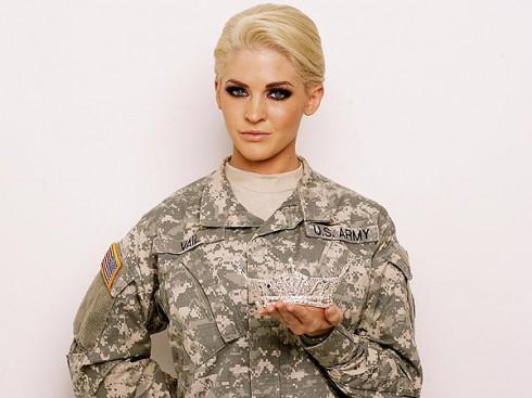 Miss America Teresa Vail Soldier