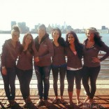 Real Bridesmaids of Kail Lowry's wedding group photo in hoodies