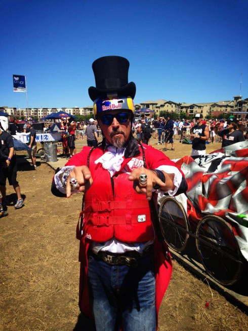 Richard Rawlings 2013 Red Bull flugtag circus costume