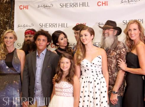 Sadie Robertson Sherri Hill Fashion Week NYC Robertson family photo