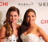 Sadie Robertson and Olivia Culpo at the Sherri Hill Spring Collection 2014 runway show