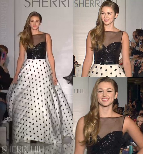 Sadie Robertson Live Original by Sherri Hill runway show at MBFW in NYC