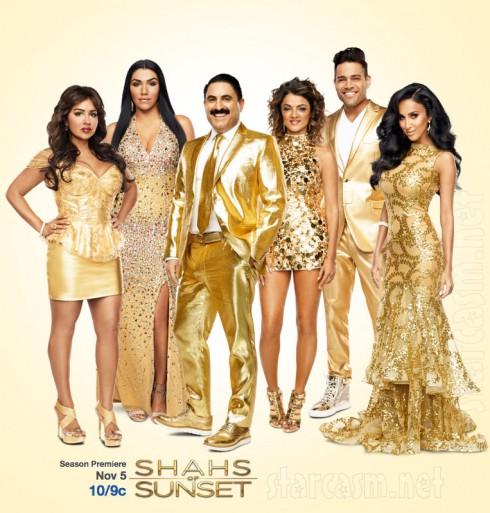 Shahs of Sunset Season 3 cast photo in gold clothes