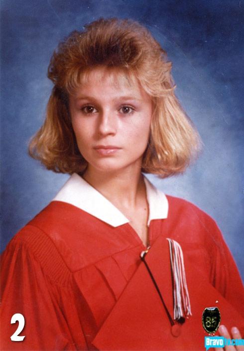 Tamra Barhaney throwback high school graduation photo