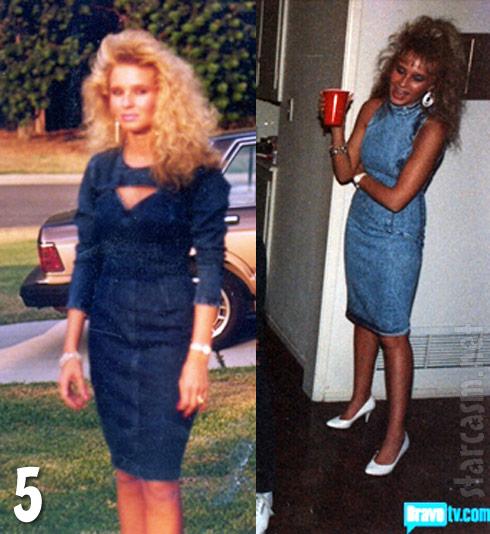 Tamra Barney throwback photos denim dresses