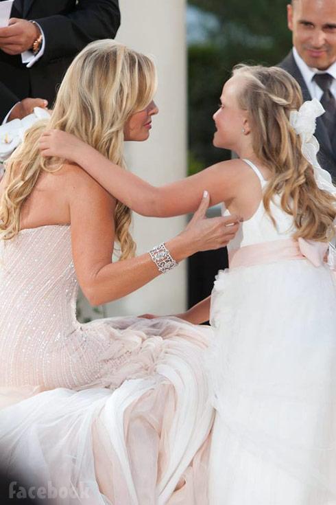 Tamra Judge and her daughter Sophia at Tamra's wedding