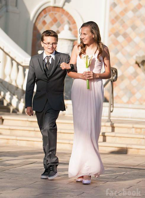Tamra Barney's son Spencer and daughter Sidney at her wedding