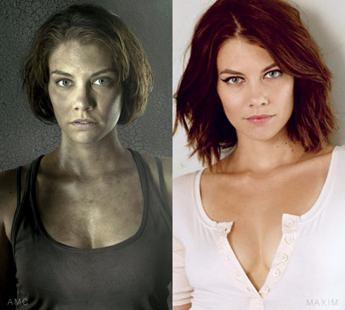 The Walking Dead Maggie actress Lauren Cohan  Maxim side-by-side photos