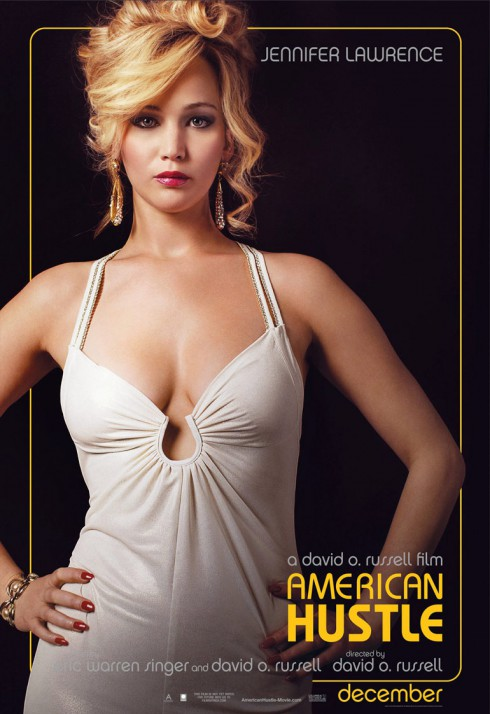 American Hustle Jennifer Lawrence character poster as Rosalyn Rosenfeld