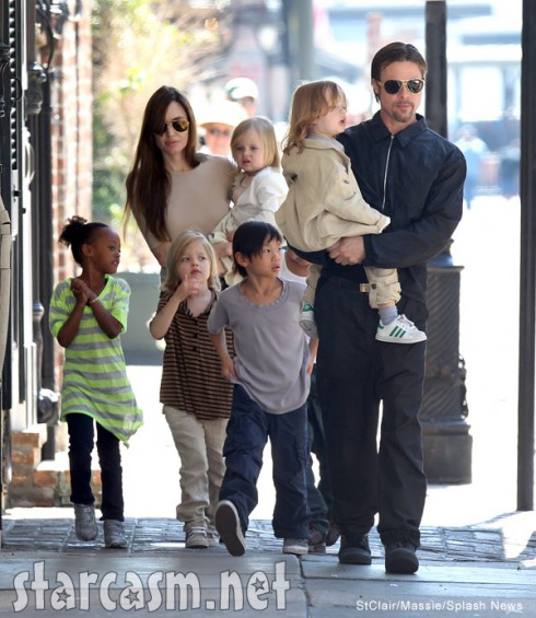 Brad Pitt and Angelina Jolie family photo with children