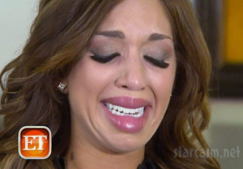 Farrah Abraham cry face after collagen lip injections