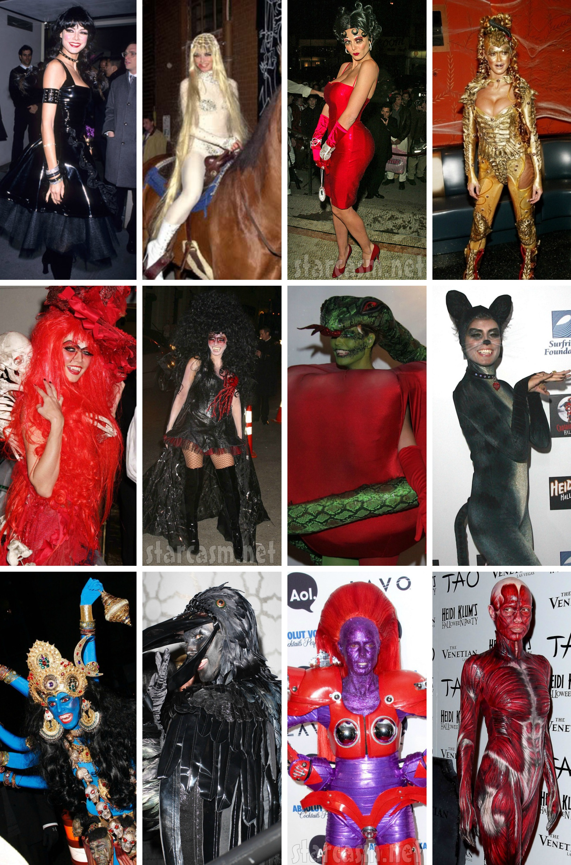 photos heidi klum's halloween costumes from 2000-2012