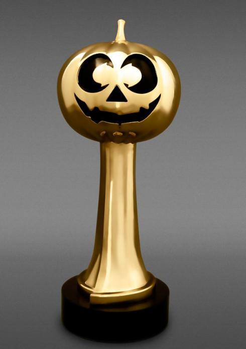 Hub Network Halloween Bash Gold Jackie trophy award statuette