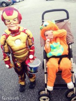 Jace Evans and pal Halloween 2013