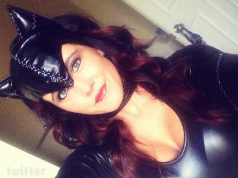 Jenelle Evans Halloween 2013 Catwoman costume