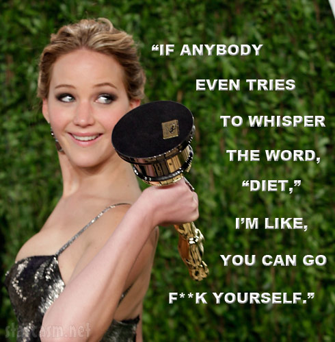 Jennifer Lawrence diet quote