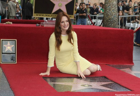 Julianne Moore - Hollywood Walk of Fame - 2013 Inductions