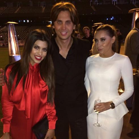 Jonathan Cheban and Kourtney Kardashian at Kim Kardashian proposal