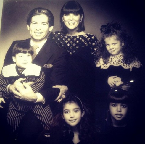 Kris and Robert Kardashian - Family Picture