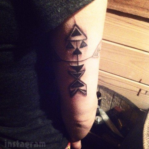 Big Tips Texas Morgan Adler Navajo tribal tattoo arm