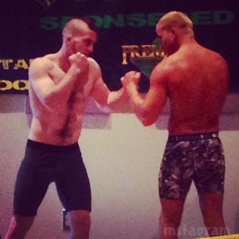 Jenelle Evans' Nathan Griffith Draco MMA fight weigh in photo