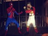 Nathan Griffith Halloween Spider-Man 2013 fighting Power Ranger