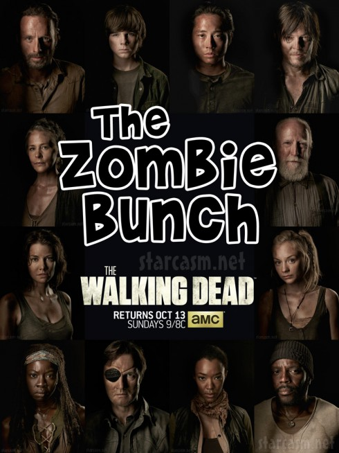 The Zombie Bunch The Walking Dead Season 4 official cast photos