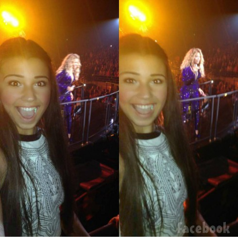 Valentina selfies from Beyonce concert photobomb