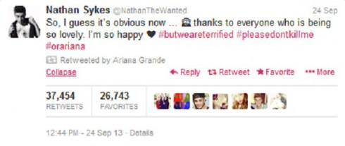 Nathan Sykes Tweet