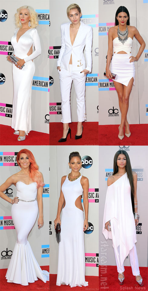 2013 American Music Awards white looks on the red carpet