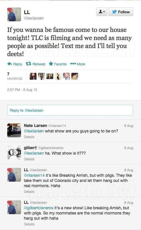 Breaking the Faith filming tweet
