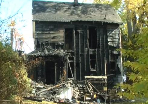 Burned-home