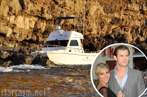 Chris Hemsworth - Elsa Pataky - Shipwreck on Canary Islands
