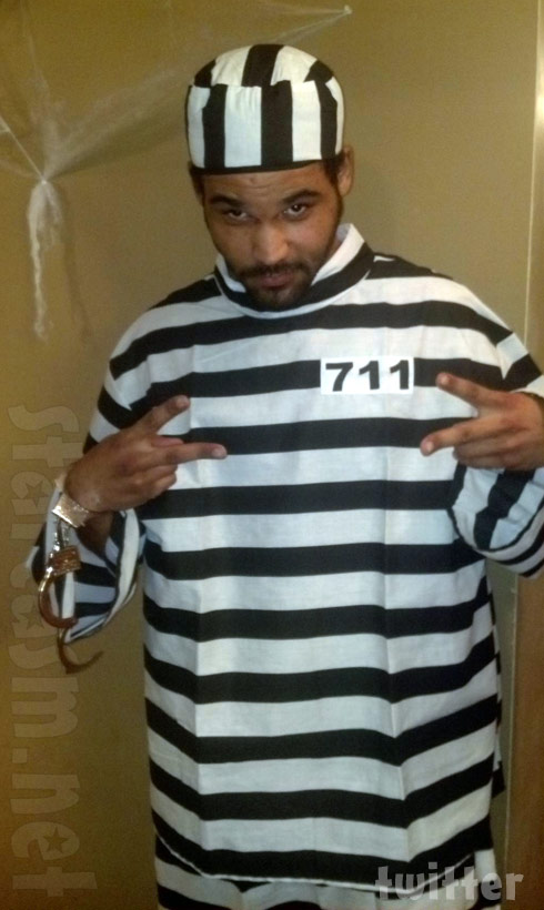 Kieffer Delp wears a prisoner Halloween costume one year before being arrested on Halloween