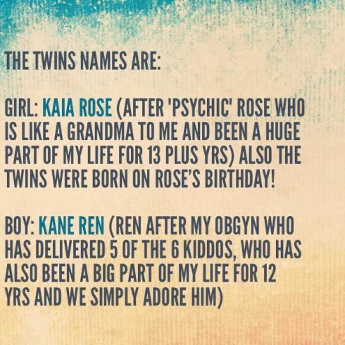 Kim Zolciak Baby Names