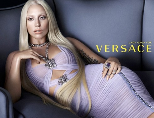 Lady Gaga face of Versace campaign poster