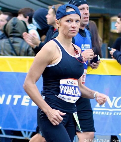 Pamela Anderson - New York City Marathon