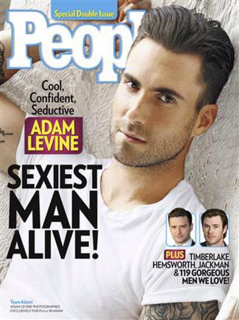 People Magazine - Sexiest Man Alive 2013 Cover - Adam Levine