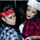 Rihanna chola gangsta zombie friends Halloween 2013 photo