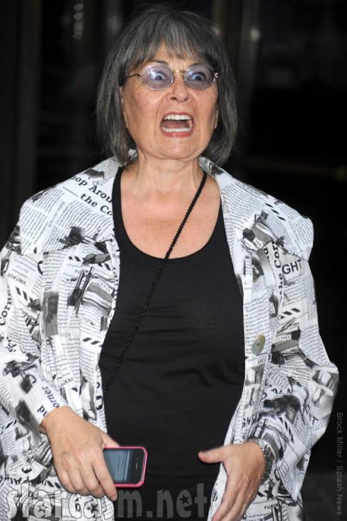 Roseanne Barr screaming