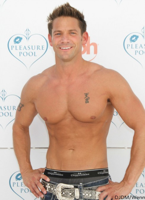 Shirtless Jeff Timmons - Stripping Reality Show -  Chippendales