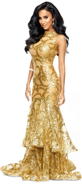 Lilly Ghalichi Shahs of Sunset Season 3 gold dress