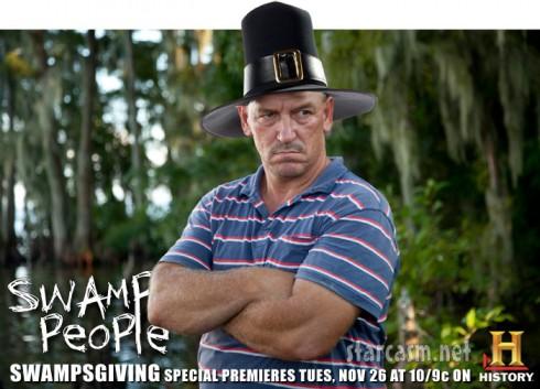 Swamp People Swampsgiving special Troy Landry as a pilgrim